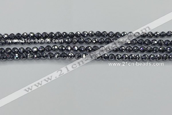 CTZ620 15.5 inches 4mm faceted round terahertz beads wholesale