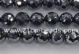 CTZ621 15.5 inches 6mm faceted round terahertz beads wholesale