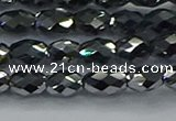 CTZ647 15.5 inches 6*9mm faceted rice terahertz beads wholesale