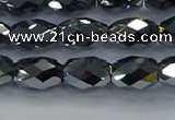 CTZ648 15.5 inches 7*11mm faceted rice terahertz beads wholesale