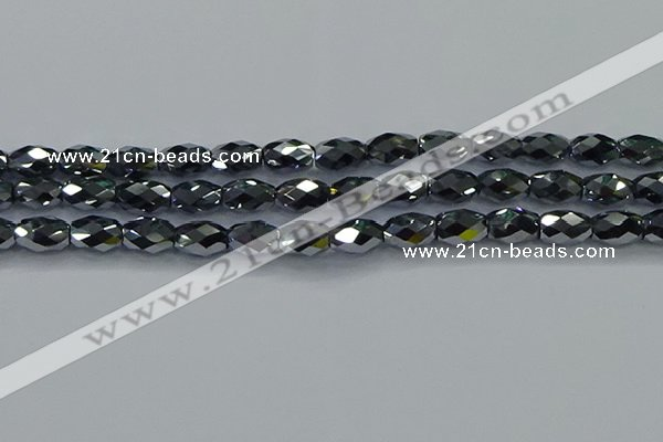 CTZ649 15.5 inches 8*12mm faceted rice terahertz beads wholesale