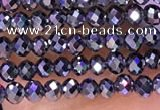 CTZ651 15.5 inches 2mm faceted round tiny terahertz beads