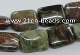 CUG154 15.5 inches 12*16mm rectangle australian unakite beads