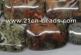 CUG157 15.5 inches 18*25mm rectangle australian unakite beads