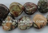 CUG163 15.5 inches 15*15mm heart australian unakite beads