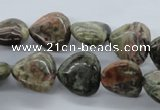 CUG171 15.5 inches 16*16mm heart australian unakite beads