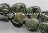 CUG172 15.5 inches 18*18mm heart australian unakite beads