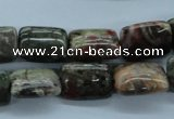 CUG176 15.5 inches 10*14mm rectangle australian unakite beads