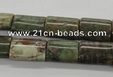 CUG178 15.5 inches 13*18mm flat tube australian unakite beads