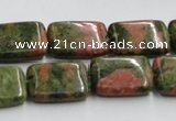 CUG53 16 inches 13*18mm rectangle natural unakite gemstone beads