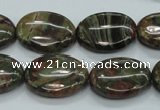 CUJ02 15.5 inches 15*20mm oval autumn jasper gemstone beads