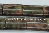 CUJ09 15.5 inches 18*25mm flat tube autumn jasper gemstone beads
