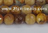 CVJ23 15.5 inches 8mm faceted round venus jasper beads wholesale