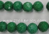 CWB403 15.5 inches 10mm faceted round howlite turquoise beads