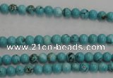 CWB553 15.5 inches 4mm round howlite turquoise beads wholesale