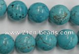 CWB559 15.5 inches 14mm round howlite turquoise beads wholesale