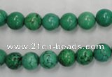 CWB567 15.5 inches 8mm round howlite turquoise beads wholesale