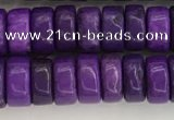 CWB834 15.5 inches 3*6mm tyre howlite turquoise beads wholesale