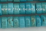 CWB840 15.5 inches 3*6mm tyre howlite turquoise beads wholesale