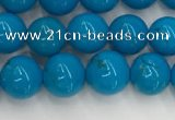 CWB858 15.5 inches 6mm round howlite turquoise beads wholesale