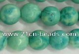 CWB876 15.5 inches 6mm round howlite turquoise beads wholesale