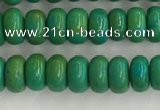 CWB898 15.5 inches 2*4mm rondelle howlite turquoise beads