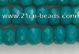CWB903 15.5 inches 5*8mm faceted rondelle howlite turquoise beads