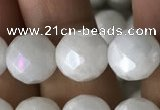 CWH67 15.5 inches 10mm faceted round AB-color white jade beads