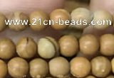 CWJ510 15.5 inches 4mm round wooden jasper beads wholesale