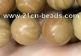 CWJ514 15.5 inches 12mm round wooden jasper beads wholesale