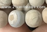 CWJ523 15.5 inches 10mm round matte wooden jasper beads wholesale