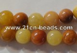 CYJ263 15.5 inches 10mm round mixed color yellow jade beads wholesale