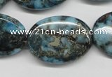CYQ57 15.5 inches 22*30mm oval dyed pyrite quartz beads wholesale