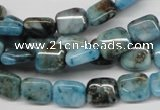 CYQ68 15.5 inches 8*10mm rectangle dyed pyrite quartz beads wholesale