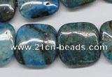 CYQ70 15.5 inches 20*20mm square dyed pyrite quartz beads wholesale