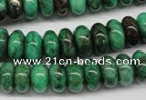 CYQ80 15.5 inches 6*12mm rondelle dyed pyrite quartz beads wholesale