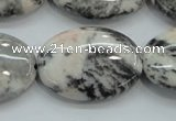 CZJ54 16 inches 22*30mm oval zebra jasper gemstone beads wholesale