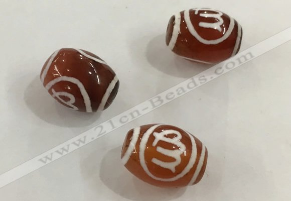 DZI321 10*14mm drum tibetan agate dzi beads wholesale