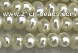 FWP04 14.5 inches 1.8mm - 2.1mm potato white freshwater pearl strands