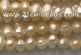 FWP06 14.5 inches 2mm - 2.5mm potato pink freshwater pearl strands