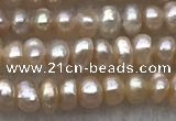 FWP10 14.5 inches 2.5mm - 3mm potato light purple freshwater pearl strands