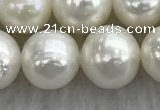 FWP102 15 inches 9mm - 10mm potato white freshwater pearl strands