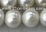 FWP115 15 inches 10mm - 11mm potato grey freshwater pearl strands