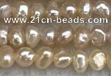 FWP12 14.5 inches 2.8mm potato pink freshwater pearl strands