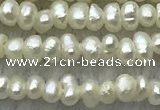 FWP14 15 inches 1.8mm potato white freshwater pearl strands