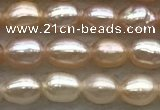 FWP155 14.5 inches 3.5mm rice light purple freshwater pearl strands
