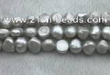 FWP262 15 inches 11mm - 12mm baroque grey freshwater pearl strands