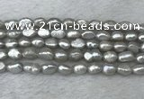 FWP276 15 inches 6mm - 7mm baroque grey freshwater pearl strands