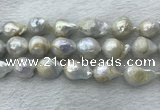 FWP362 15 inches 15mm - 18mm baroque freshwater nucleated pearl beads