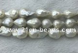 FWP365 15 inches 20mm - 22mm baroque freshwater nucleated pearl beads